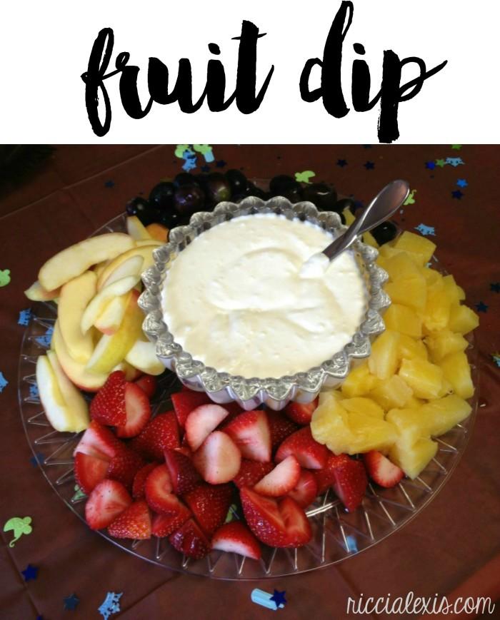 fruit punch dip for fruit