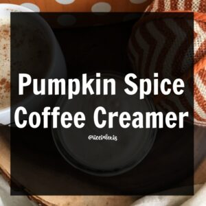 Pumpkin Spice Coffee Creamer {recipe}