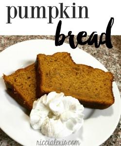 Pumpkin Bread {recipe}