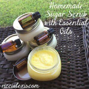 Homemade Sugar Scrub with Essential Oils