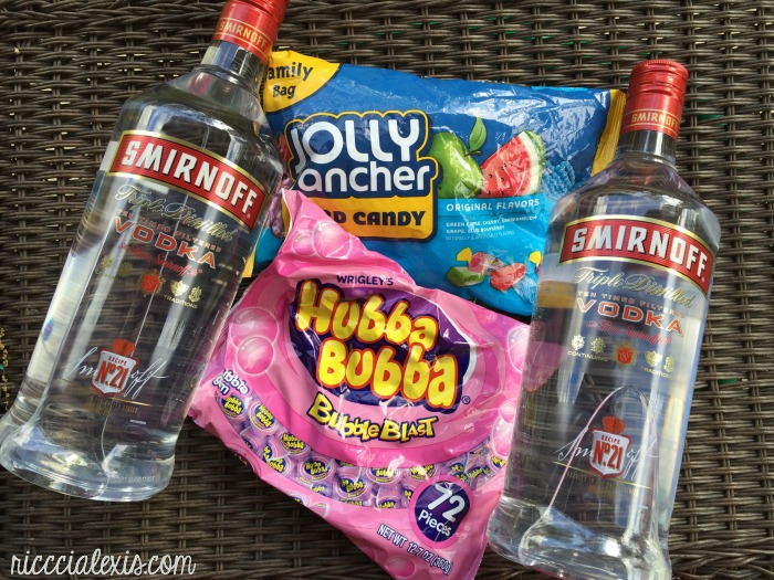 Bubblegum Vodka Drinks