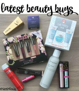 Latest Beauty Buys