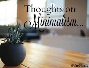 Thoughts on Minimalism…