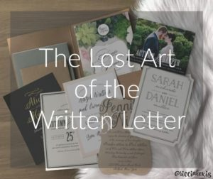 The Lost Art of the Written Letter
