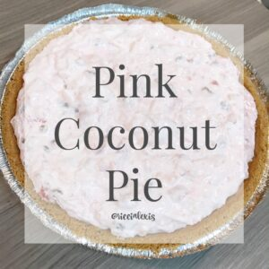 Pink Coconut Pie