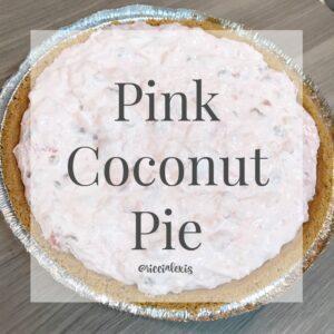 Pink Coconut Pie