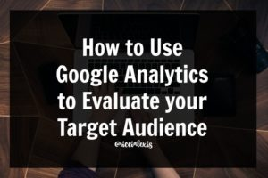 How to Use Google Analytics to Evaluate your Target Audience